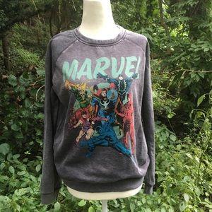 Grey Marvel superhero long sleeve sweatshirt